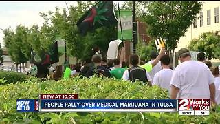 People rally over medical marijuana in Tulsa