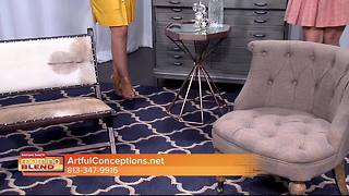 Artful Conceptions gives The Morning Blend tips on adding industrial pieces to our home decor - Video