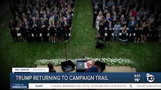 President Trump returning to campaign trial