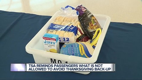 TSA reminds flyers what is not allowed to avoid Thanksgiving back-up