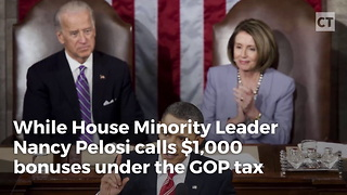 "Pelosi Calls $1,000 ""Crumbs,"" Thought Obama's $40 Was Great - Video"
