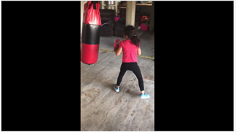 Fierce 6-year-old destined to be boxing champ