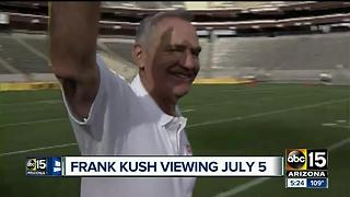 Frank Kush public viewing being held July 5 - Video