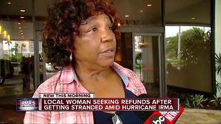 Metro Detroit woman wants refunds after getting stranded in Irma - Video