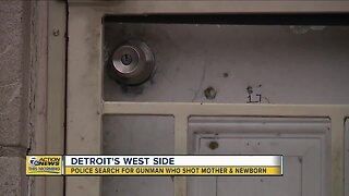 Police search for gunman who shot mother and newborn in Detroit