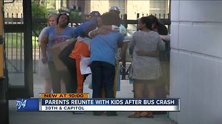 Parents reunited with students after school bus crash near DeForest - Video