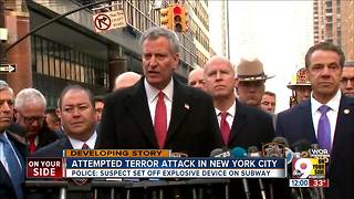 Attempted terror attack in New York - Video