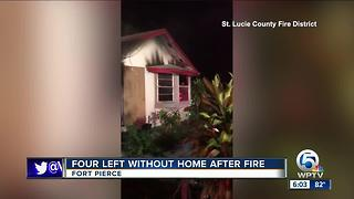 4 people displaced by Fort Pierce fire - Video