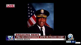 Riviera Beach police chief receives vote of no confidence - Video