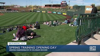 Spring Training opening day in Arizona
