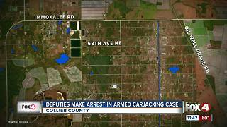 Deputies make arrest in Naples armed carjacking - Video
