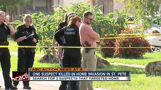 One suspect killed in home invasion - Video