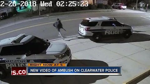 New video of ambush on Clearwater Police