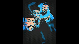 Anonymous mask on the phone