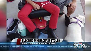 Electric wheelchair stolen from front yard