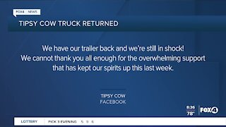 Stolen trailer returned to owners