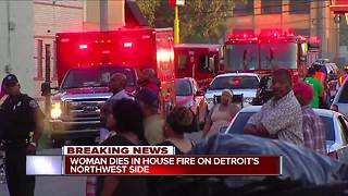Woman found 'burned beyond recognition' in house fire on Detroit's northwest side - Video