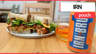Cafe launches new vegan sandwich made from IRN BRU - Video