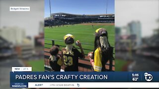 Mom creates clip-on dreads for son in honor of Padres player