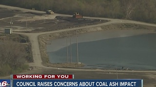 City-county council raises concerns about coal ash impact - Video