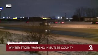Winter storm warning in Butler County