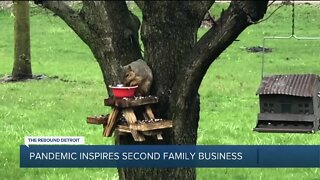 Local family creates squirrel picnic tables after catering business was closed during pandemic