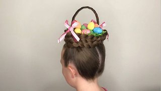 The Braidy Bunch! Creative Mum Transforms Daughter's Hair Into Amazing Easter Basket – Complete With Eggs