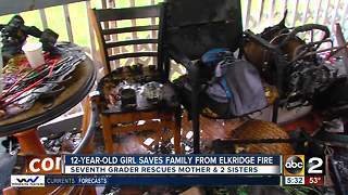 12-year-old girl saves family from Elkridge fire - Video