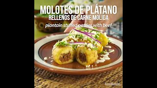 Plantain Stuffed Patties with Beef