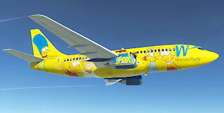 RC Western Pacific Airlines Boeing 737-301 (Fox-The Simpsons)