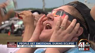 People get emotional during solar eclipse - Video
