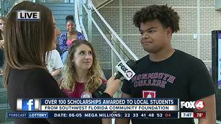 Southwest Florida Community Foundation awards 135 scholarships to local students - 7:30am live report - Video