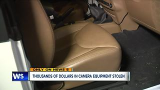 Summit County photographer has thousands of dollars in cameras and gear stolen from his jeep - Video