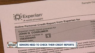 Why seniors need to check their credit reports on a regular basis