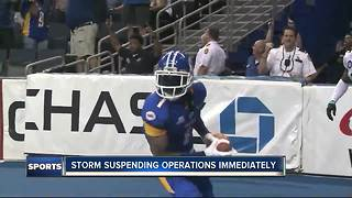 Tampa Bay Storm suspending operations effective immediately - Video