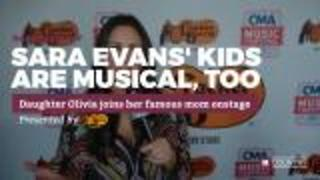 Sara Evans' kids are musical, too | Rare Country - Video