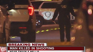 One dead after shooting near Twain and Nellis - Video
