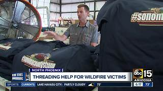 Valley t-shirt company X-Treme Apparel sending help to California fire victims - Video