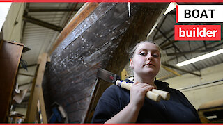 Woman who gave up hairdressing has become Scotland's first modern apprentice - of boat building