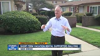Short Term Vacation Rental supporters rally at City Hall