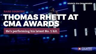 Thomas Rhett at CMA Awards Rare Country - Video