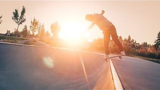 Friends Go Skateboarding During Sunset in Tacoma, Washington - Video