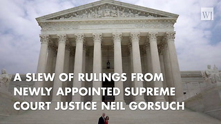 Senate Democrats Upset Over Early Gorsuch Rulings - Video