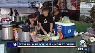 West Palm Beach Green Market opens - Video
