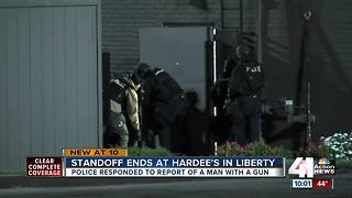 UPDATE: Standoff at Liberty Hardee's ends - Video
