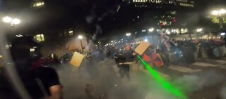 Clashes continue between protesters and federal agents