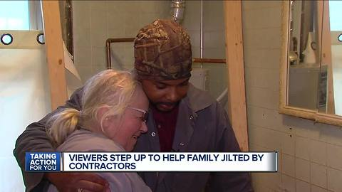 7 Action News viewer steps up to help family jilted by contractor