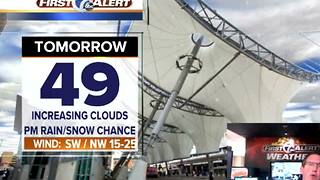 Rain/Snow chance Tuesday afternoon - Video