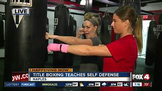 Title Boxing teaches self defense class - Video