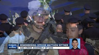 Milwaukee says goodbye to fallen MPD Officer Matthew Rittner